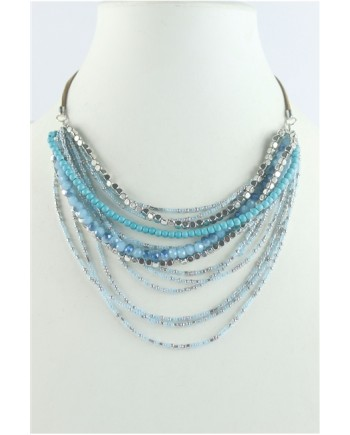 Turquoise Multilayer Beaded Necklace Set