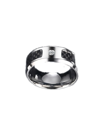 Zircon Carbon Fiber Ring
