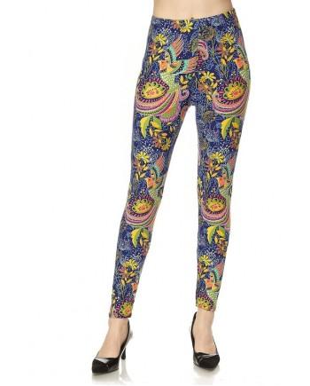 Women's Leggings - Floral Bird Print fits sizes 8-18