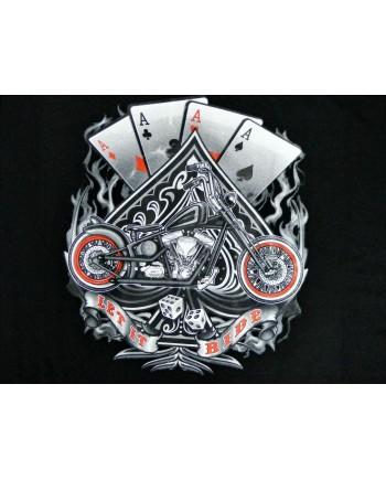 Men's Black T-shirt Cards Print