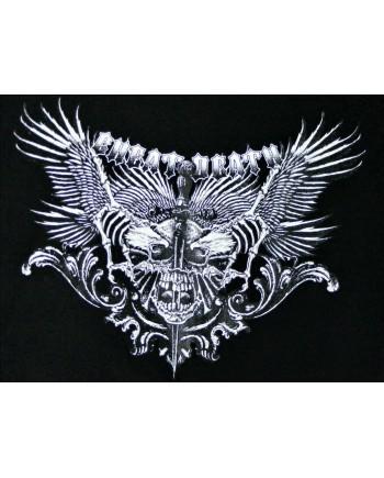 Men's Black T-shirt Cheat Death Print