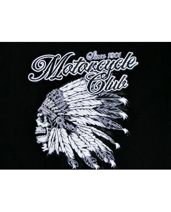 Men's Black T-shirt Indian Motorcycle Print