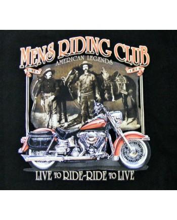 Men's Black T-shirt Men's Riding Club Print