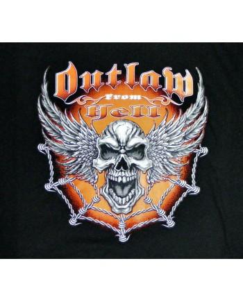 Men's Black T-shirt Outlaw Print
