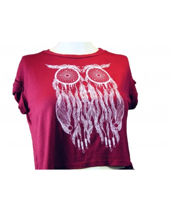 Burgundy Crop T-shirt