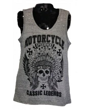 Motorcycle Speedway Sleeveless T-shirt