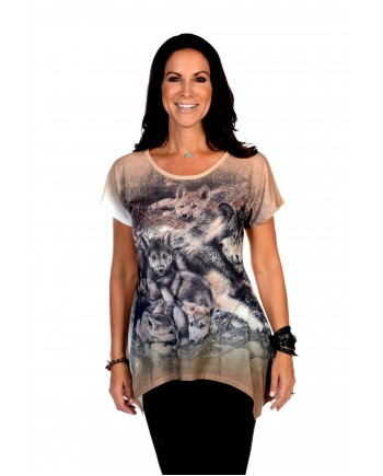 Wolf with Pups Tunic