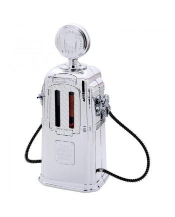 Silver Gas Pump Beverage Dispenser