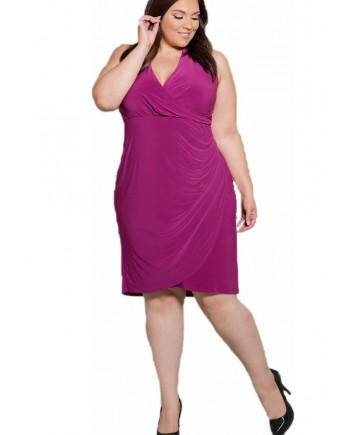 SWAK Designs Crystal Halter Dress Pink