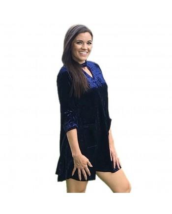 Blue Velvet Tunic Top or Dress