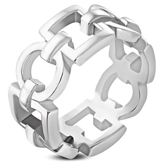 Geometric Square Circle Ring
