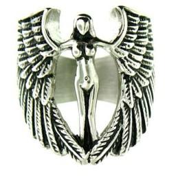 Large Biker Angel Ring