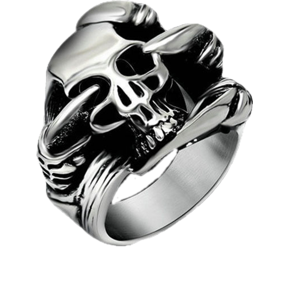 Four Claw Skull Ring