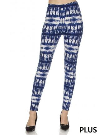 Women's Leggings - Blue Tie Dye fits sizes 8-18