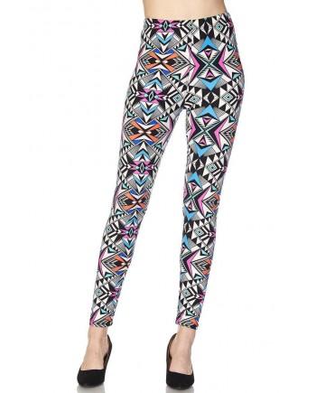 Women's Leggings - Geometric Pattern fits Sizes 8-18
