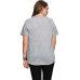 Short Sleeve Wing of the Road Gray Cut Front T-shirt
